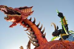 Dragón de Viareggio del carnaval un toro foto de archivo libre de regalías