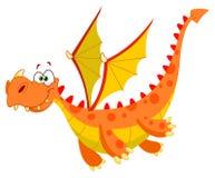 Dragón de vuelo stock de ilustración