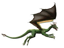 Dragón de vuelo Fotografía de archivo
