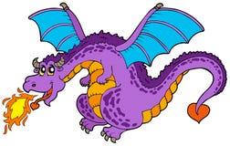 Dragón de vuelo enorme Foto de archivo libre de regalías