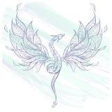 Dragón de vuelo modelado libre illustration