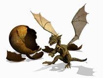 Dragón del bebé - con el camino de recortes Foto de archivo libre de regalías