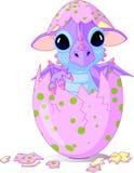 Dragón del bebé tramado a partir de un huevo libre illustration