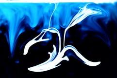 Dragón del blanco de la tinta Imagenes de archivo