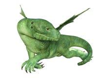 dragón del Hatchling de la fantasía de la representación 3D en blanco Imagenes de archivo