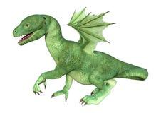 dragón del Hatchling de la fantasía de la representación 3D en blanco Imagen de archivo