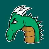 Dragón del logotipo ilustración del vector