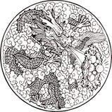 Dragón del mito Fotografía de archivo