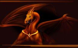 Dragón del oro Fotografía de archivo