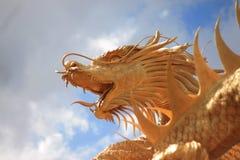 Dragón del oro Foto de archivo libre de regalías
