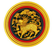 Dragón del oro del estilo chino Imagenes de archivo