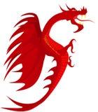 Dragón del rojo de la armería. stock de ilustración