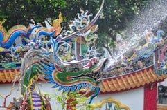Dragón del templo, Taipei Fotos de archivo