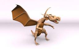 Dragón divertido ilustración del vector