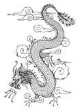 Dragón en cielo Foto de archivo libre de regalías