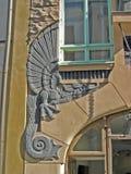 Dragón en la pared fotografía de archivo