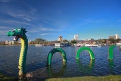 Dragón en la zona de Lego de Disney céntrico Foto de archivo libre de regalías