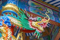 Dragón en templo chino Fotografía de archivo