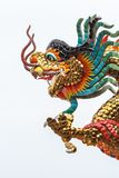 Dragón en un fondo blanco Imagen de archivo