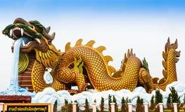 Dragón grande, marzo de 2015 en el Suphan Buri en Tailandia Foto de archivo