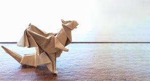 dragón modelo de la papiroflexia fotografía de archivo