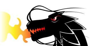 Dragón negro Fotografía de archivo