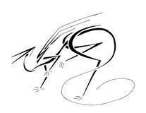 Dragón nervioso, línea arte estilizada Imágenes de archivo libres de regalías