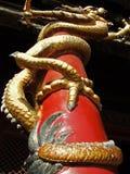 Dragón poste Fotos de archivo libres de regalías