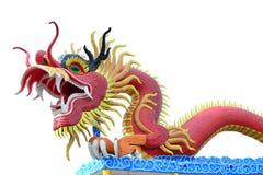 Dragón rojo aislado Fotos de archivo libres de regalías