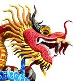 Dragón rojo aislado Imagenes de archivo