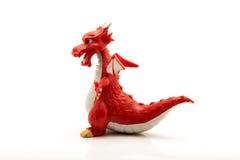 Dragón rojo aislado en el fondo blanco Imagenes de archivo