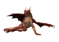 Dragón rojo en blanco Foto de archivo