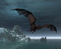 Dragón rojo en la noche Fotos de archivo libres de regalías