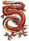 Dragón rojo grande Fotografía de archivo libre de regalías