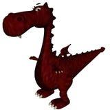 Dragón rojo inseguro ilustración del vector
