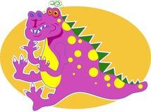 Dragón rosado ilustración del vector