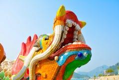 Dragón a todo color Imagenes de archivo