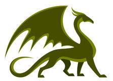 Dragón verde stock de ilustración