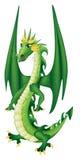 Dragón verde de la historieta Foto de archivo libre de regalías