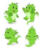 Dragón verde del bebé stock de ilustración