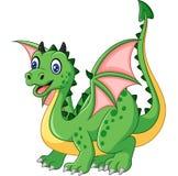 Dragón verde divertido de la historieta Fotografía de archivo libre de regalías