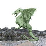 Dragón verde - photomontage ilustración del vector