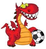 Dragón y bola stock de ilustración