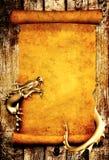 Dragón y desfile del pergamino viejo libre illustration