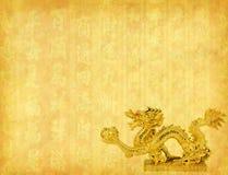 Dragón y fondo de la textura Foto de archivo