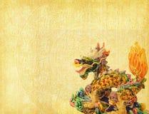 Dragón y fondo de la textura Imagenes de archivo