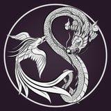 Dragón y Phoenix Fotos de archivo