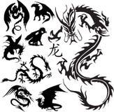 Dragões Imagens de Stock Royalty Free