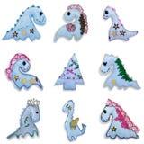 Dragões ajustados da coleção da série Fotos de Stock Royalty Free