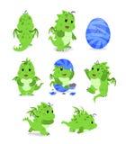 Dragões bonitos ilustração stock